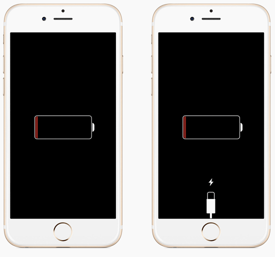 iPhone просит зарядку