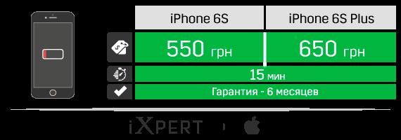 Замена аккумулятора на iPhone 6s и iPhone 6s Plus
