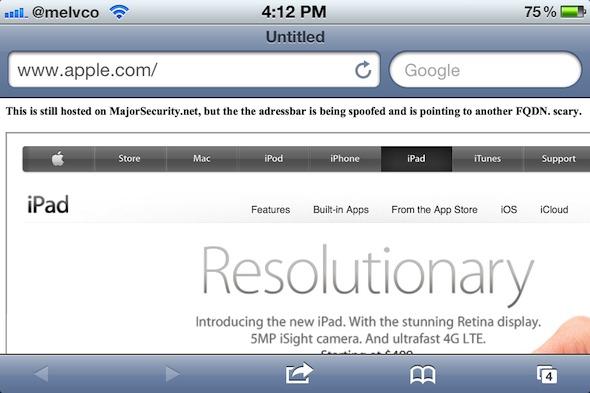 Уязвимость iOS 5.1